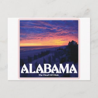 Alabama Dark Sunset Post Card