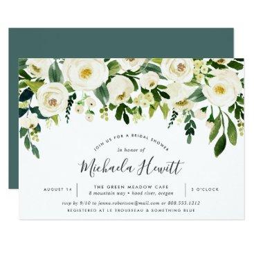 Alabaster Floral Bridal Shower Invitation