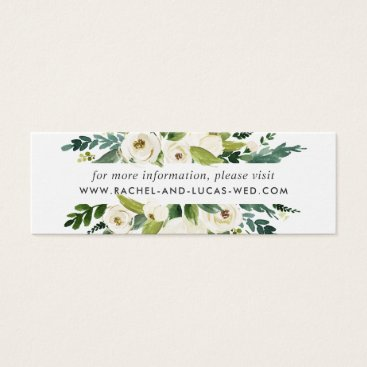 Alabaster Floral Wedding Website Cards