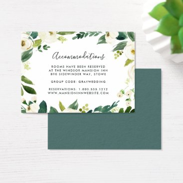 Alabaster | Wedding Hotel Accommodation Cards