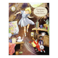 Alice Down the Rabbit Hole Bridal Shower Card