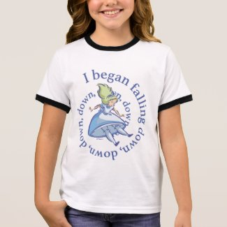 Alice | I Began Falling Down, Down, Down... Ringer T-Shirt