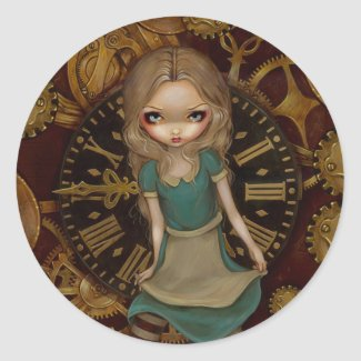 Alice in Wonderland Alice In Clockwork Sticker sticker