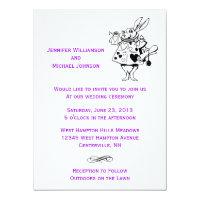 Alice In Wonderland Fairytale Modern Wedding Card