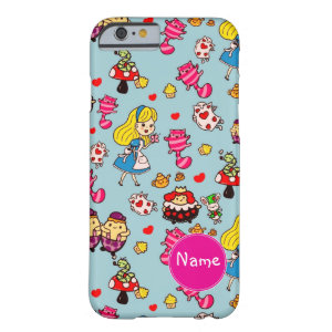 Alice in Wonderland  kawaii Named Barely There iPhone 6 Case