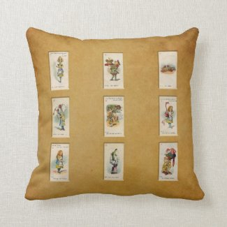 Alice in Wonderland Throw Pillows