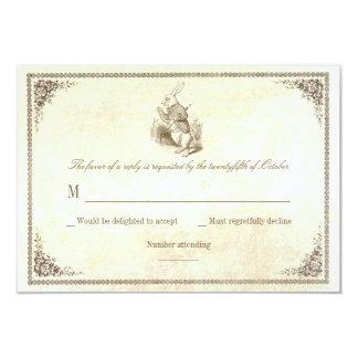 Alice In Wonderland Invitation Winter Wedding
