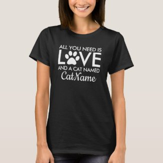 All You Need is Love Cat Personalized Dark T-Shirt