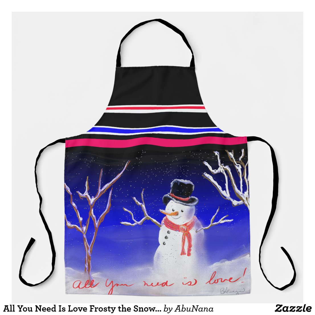 All You Need Is Love Frosty the Snowman Apron