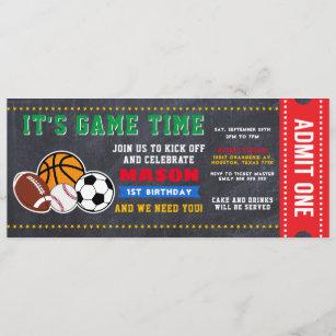 football ticket invitations zazzle