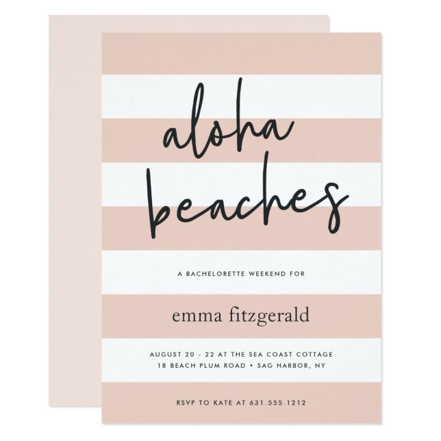 Aloha Beaches | Weekend Getaway Invitation