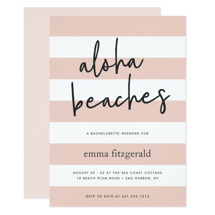 Aloha Beaches   Weekend Getaway Invitation