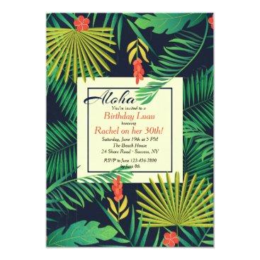Aloha Luau Invitation