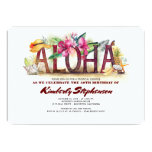 Aloha Tropical Beach | Pineapple Hawaiian Birthday Invitation
