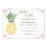 Simple Tropical Pineapple Beach I DO BBQ Invite