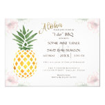 Simple Tropical Pineapple Beach I DO BBQ Invite