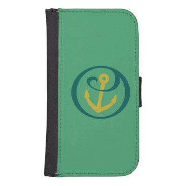 Alpha Sigma Tau Anchor Mark Galaxy S4 Wallet Case