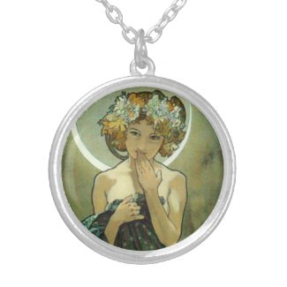 Alphonse Mucha Clair De Lune Necklace