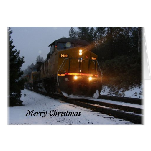 Alta Train Christmas Greetings Card Zazzle