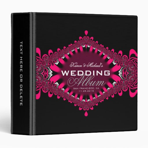 Alternative Red Lace Wedding Album Binder