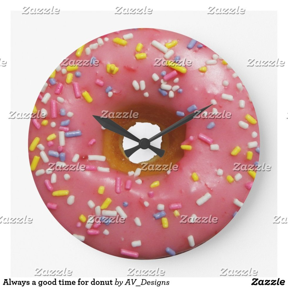 Always a good time for donut large clock