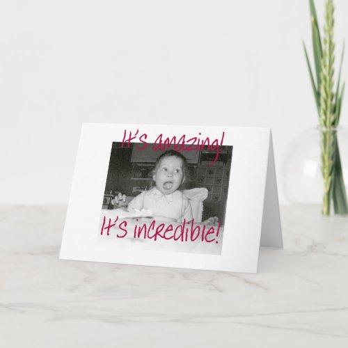 Amazed Baby Happy Birthday card