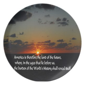 America and the future party plate