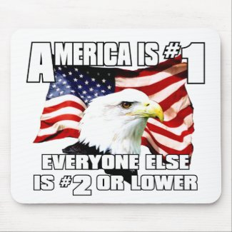 America is Number 1 Mouse Pad