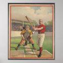 American Baseball, Vintage 1895 Framed Art Print