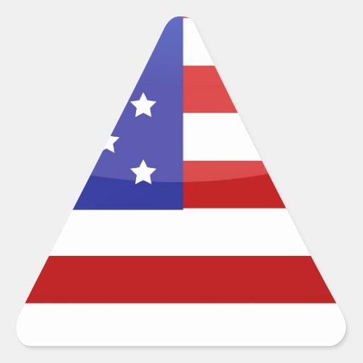 american flag heart triangle sticker zazzle