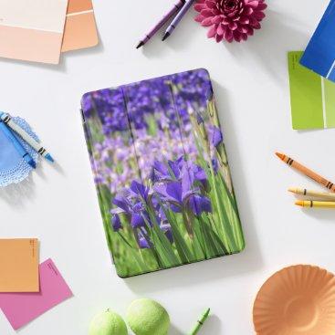 Amethyst Purple Irises Garden iPad Pro Cover