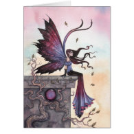Amythest Dream Fairy Fantasy Art Card