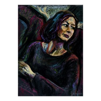 An Absolute Stranger - an oil pastel painitng print