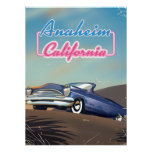 Anaheim California travel poster