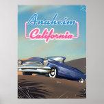 Anaheim California travel poster