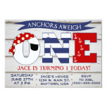 Anchors Aweigh 1st Birthday invitation