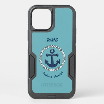 Anchors Aweigh Monogrammed OtterBox Commuter iPhone 12 Pro Case