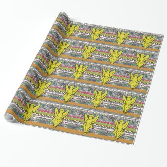 Angel Pattern Wrapping Paper