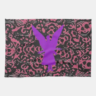 Angel Silhouette Art Towel