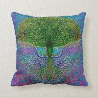 Angelic Tree of Life Throw Pillow