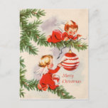 Angels Decorating the Christmas Tree Postcard
