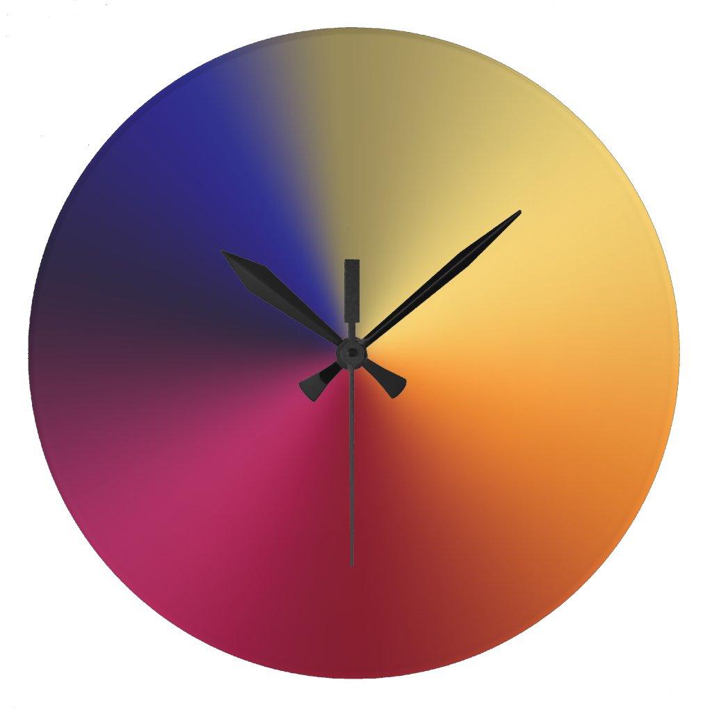 Angle Radiant Gradient Large Clock