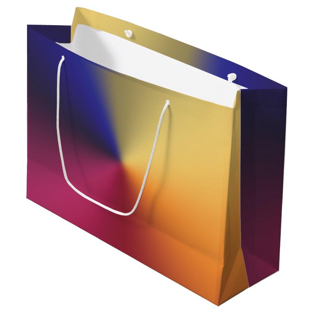 Angle Radiant Gradient Large Gift Bag