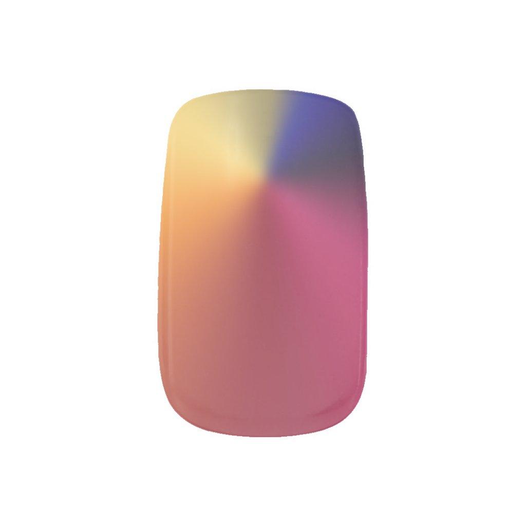 Angle Radiant Gradient Minx Nail Art