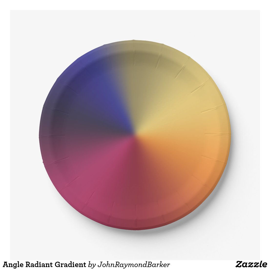 Angle Radiant Gradient Paper Plate