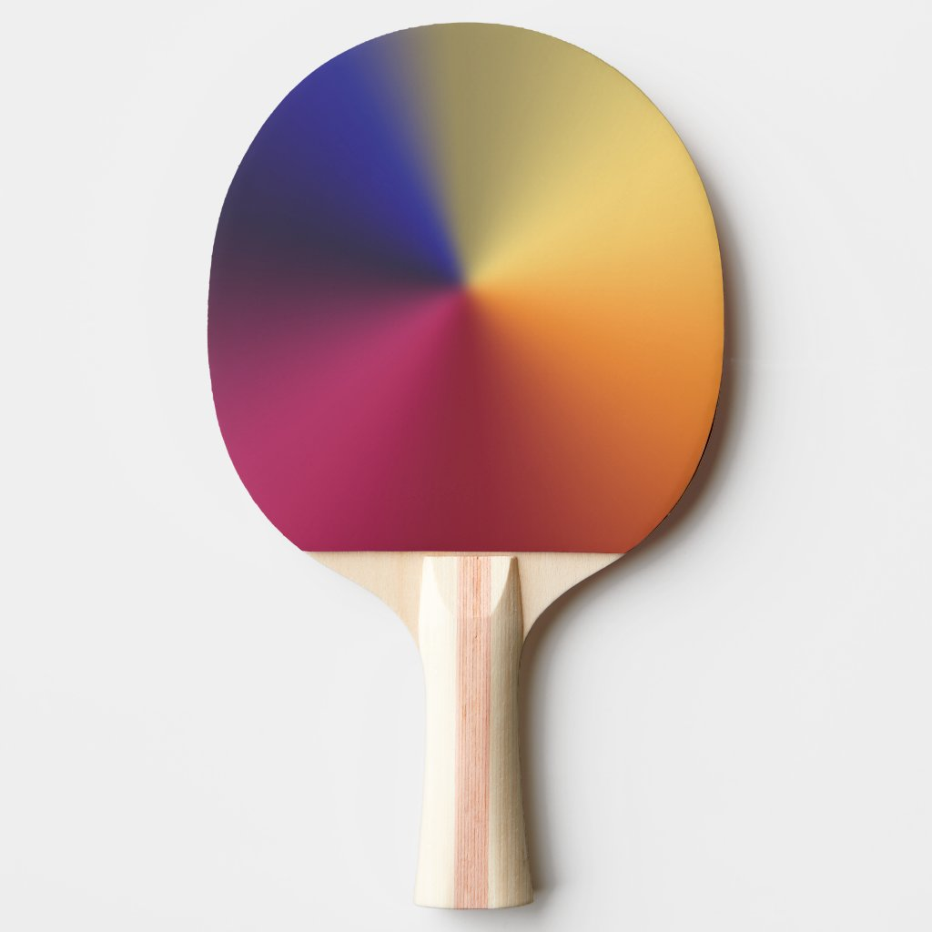 Angle Radiant Gradient Ping Pong Paddle