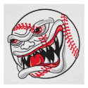angry mean baseball graphic print
