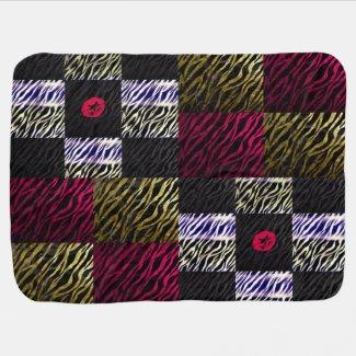 Animal Crazy Zebra Baby Girl Blanket