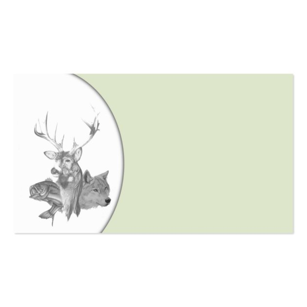 Animal Heads Business Card Template