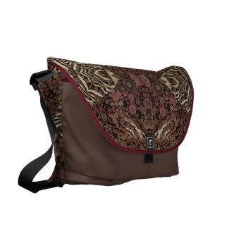 Animal Print Abstract Rickshaws LG Messenger Bag